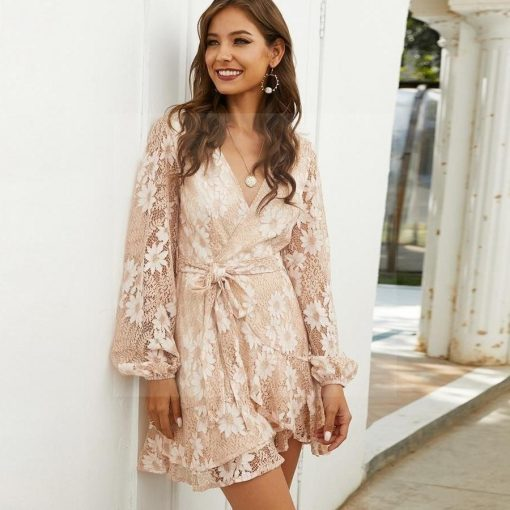 Hippie chic beige Kleid