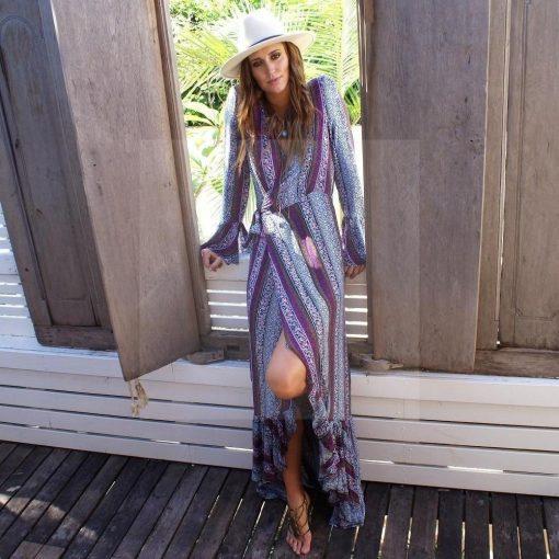 Hippie Sommer Maxikleid 2017
